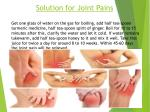 solution for joint pains