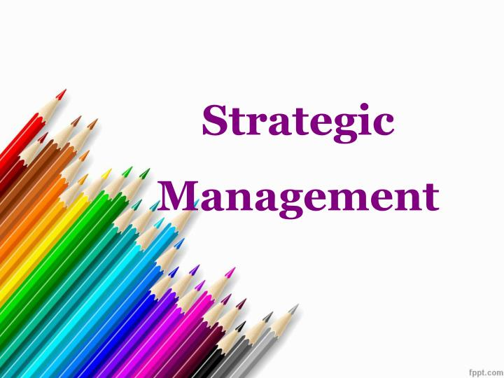 strategic management n.