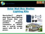 solar mail box shelter lighting kits