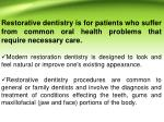 restorative dentistry is for patients who suffer