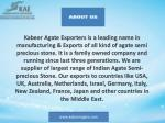 kabeer agate exporters is a leading name