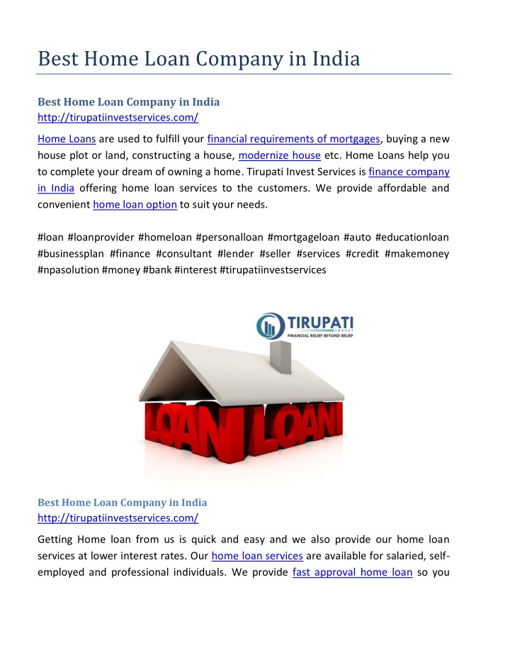 best home loan company in india n.