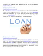 can apply for our home loan before applying