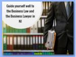 guide yourself well to the business law and the business lawyer in nj