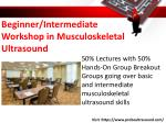 beginner intermediate workshop in musculoskeletal ultrasound