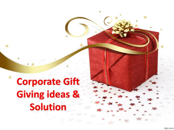 corporate gift giving ideas solution n.