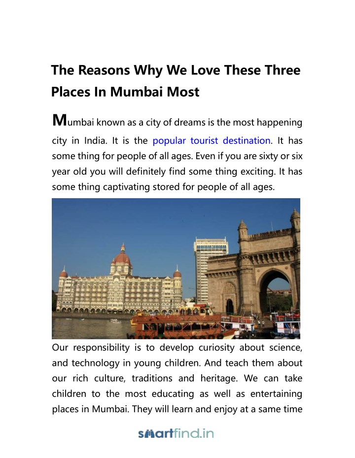 the reasons why we love these three places n.