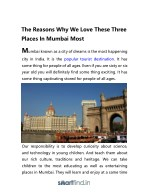 the reasons why we love these three places