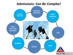 admissions can be complex