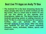 best live tv apps on andy tv box