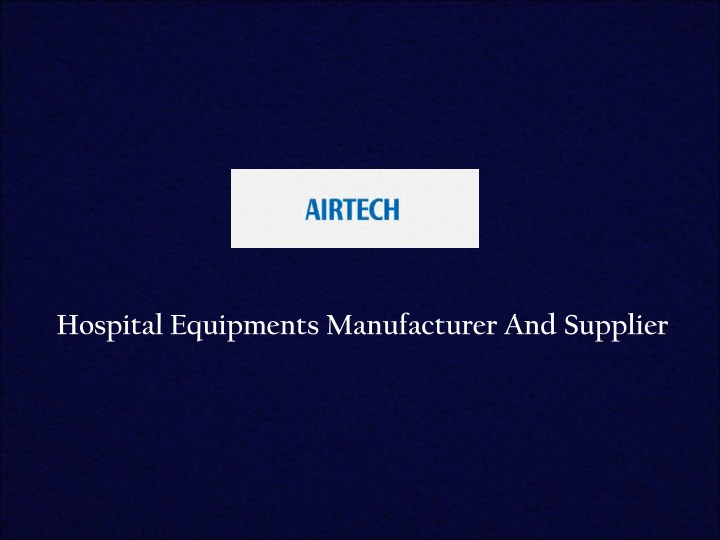 hospital equipments manufacturer and supplier n.