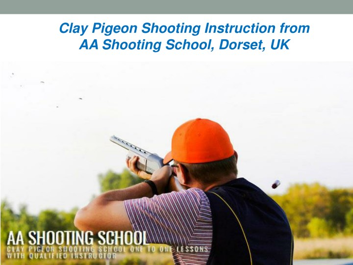 clay pigeon shooting instruction from aa shooting n.