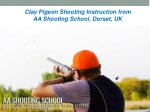 clay pigeon shooting instruction from aa shooting