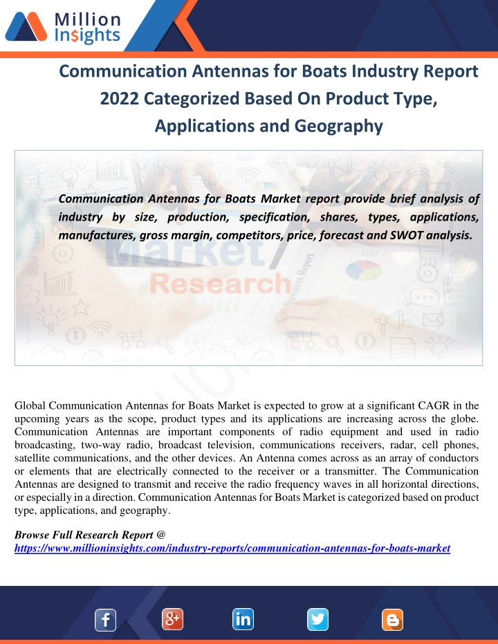 communication antennas for boats industry report n.