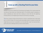 come up with a starting point for your data