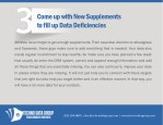 come up with new supplements to fill up data