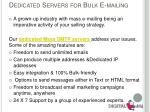 dedicated servers for bulk e mailing