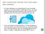 g et a dedicated server for your mass mail sending