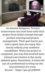 as interior designers toronto homeowners