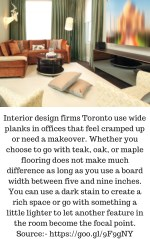interior design firms toronto use wide planks