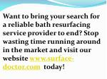 want to bring your search for a reliable bath