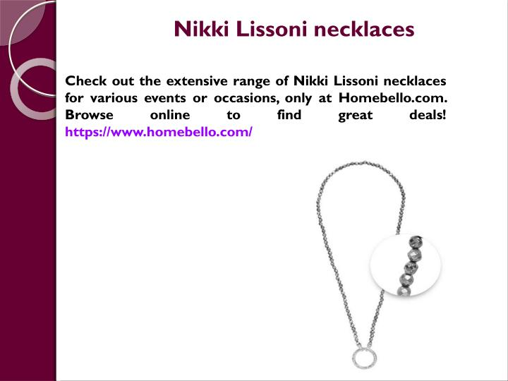 nikki lissoni necklaces n.