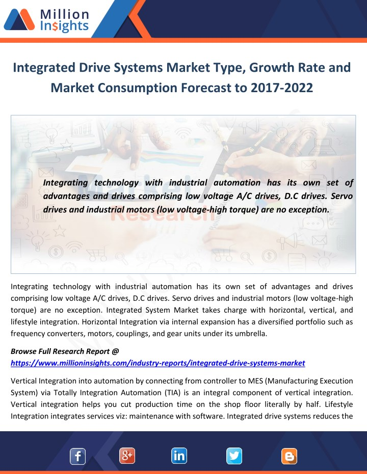 integrated drive systems market type growth rate n.
