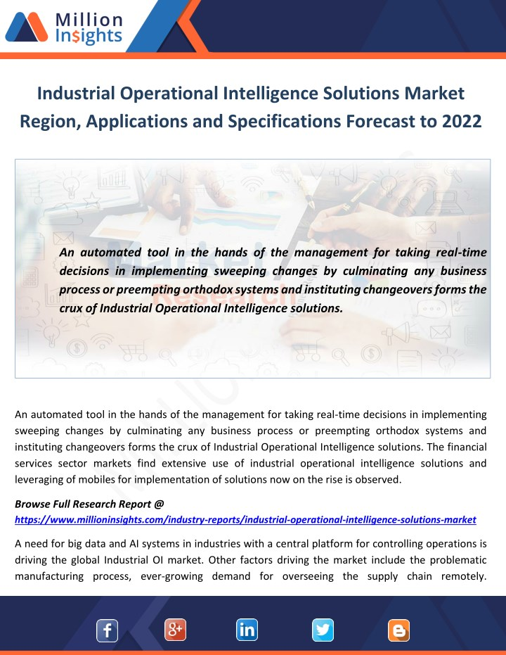 industrial operational intelligence solutions n.