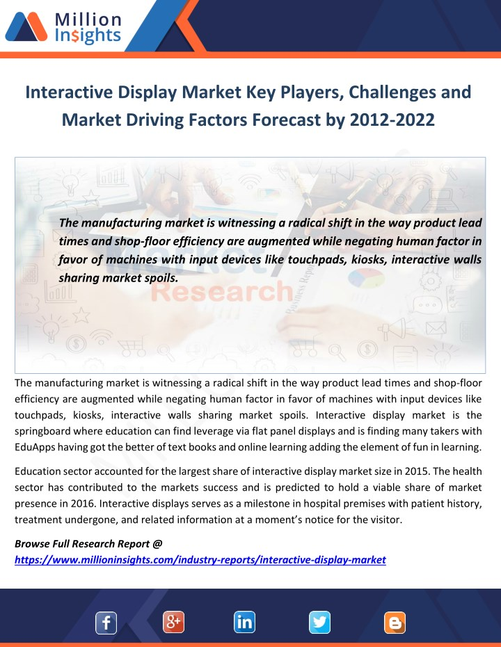 interactive display market key players challenges n.