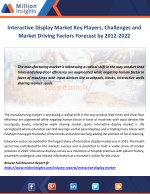 interactive display market key players challenges