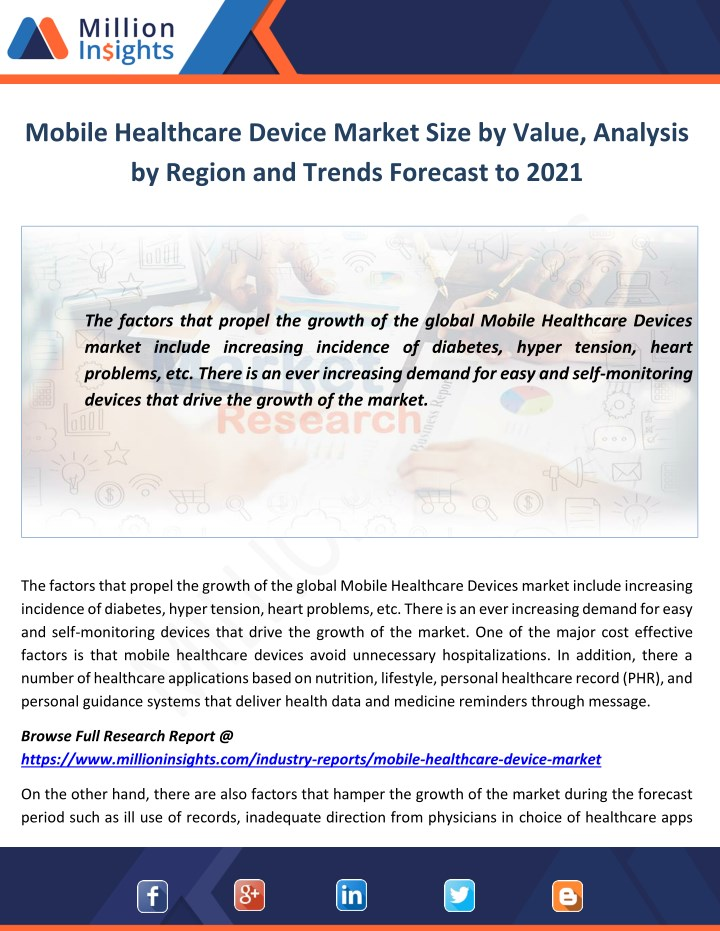mobile healthcare device market size by value n.