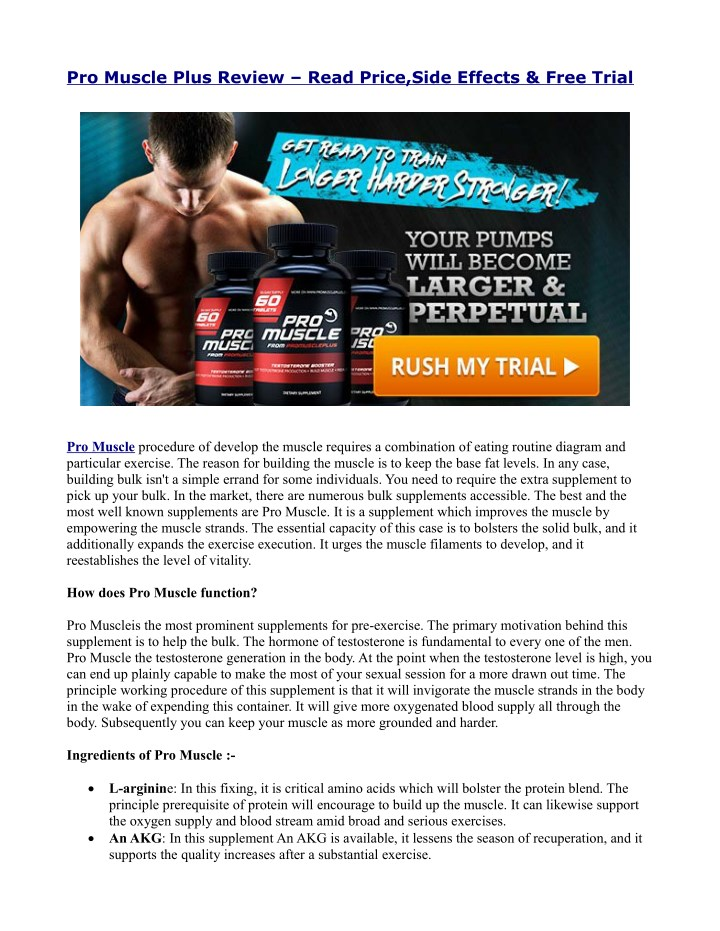 pro muscle plus review read price side effects n.