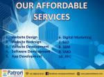 our affordable services