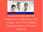 if you are looking for the acupuncture academics