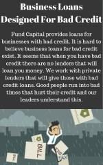 business loans designed for bad credit