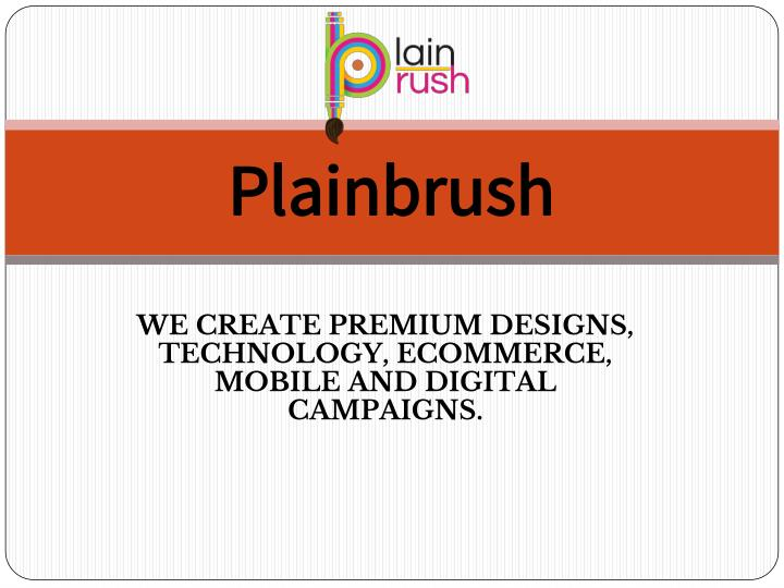 plainbrush n.