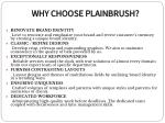 why choose plainbrush