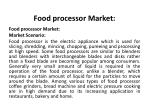 food processor market