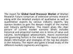 the report for global food processor market