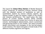 the report for global whey market of market