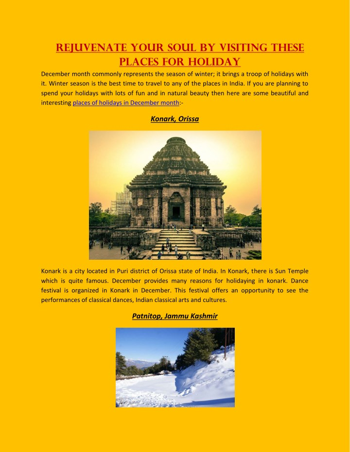 rejuvenate your soul by visiting these places n.