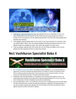 1 vashikaran specialist baba for love has said