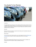 you guide to car rentals the best car rentals