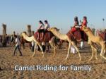 camel riding for family