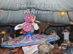traditional t anuora performance
