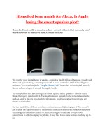 homepod is no match for alexa is apple