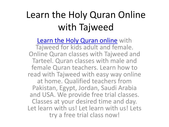 learn the holy quran online with tajweed n.
