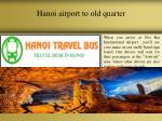 hanoi airport to old quarter