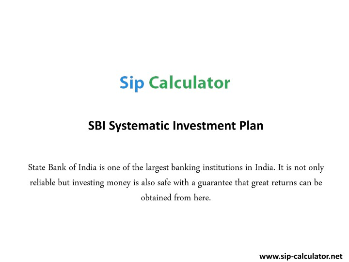 sbi systematic investment plan n.