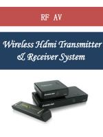 wireless hdmi transmitter receiver system